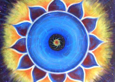 Blue Fire Mandala